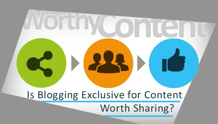 Web blog content sharing