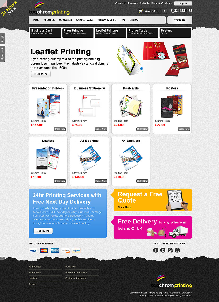 88c7139b76b Professional Ecommerce Website for Press Management System - Krish ...