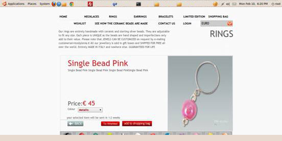 jewellery ecommerce website