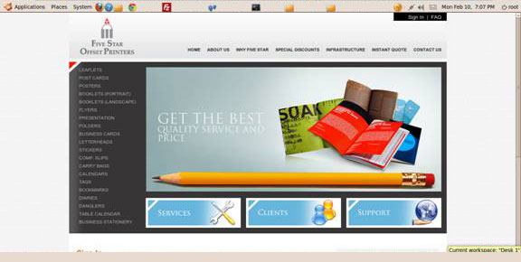 Website Case Study print management Web Design India