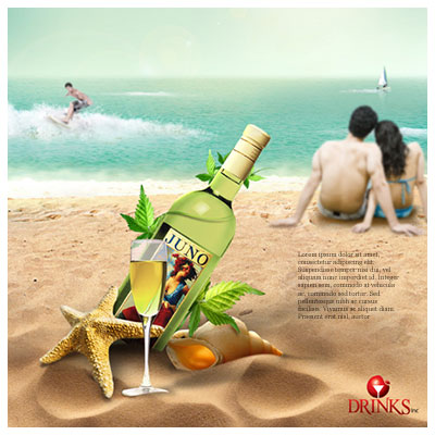 Brochure design with beach theme - high quality brochure design