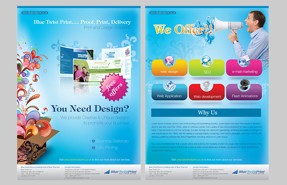 UK print Leaflet design  company