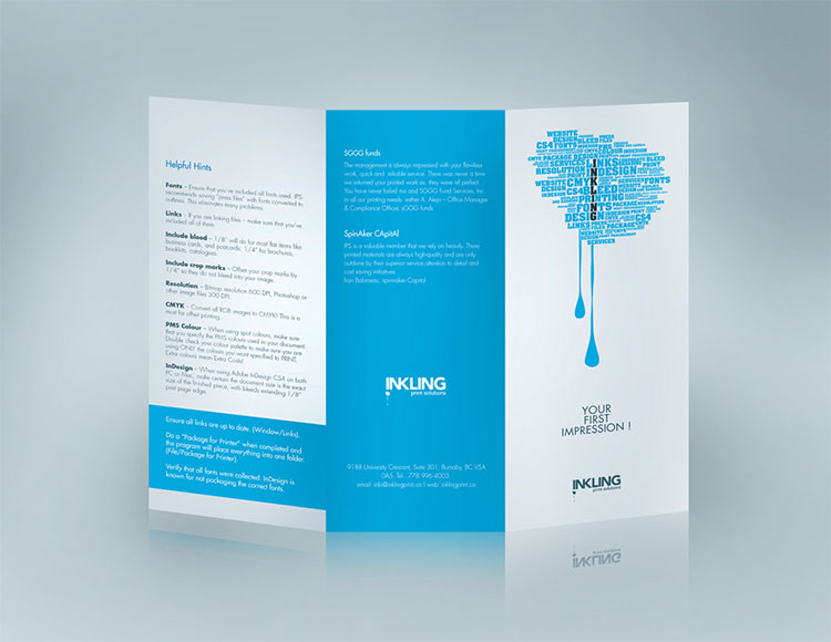 Leaflet design for canadian company