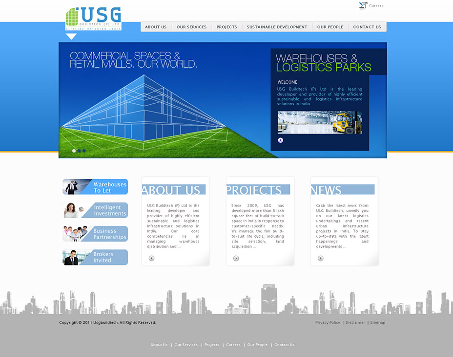logistics web design india - manufacturing and engineering websi