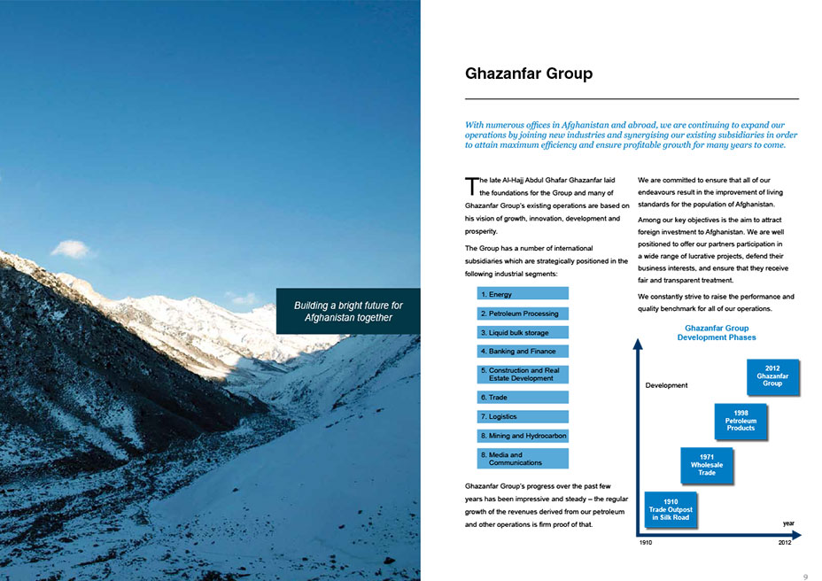 brochure design for UAE based company from India KID graphic des