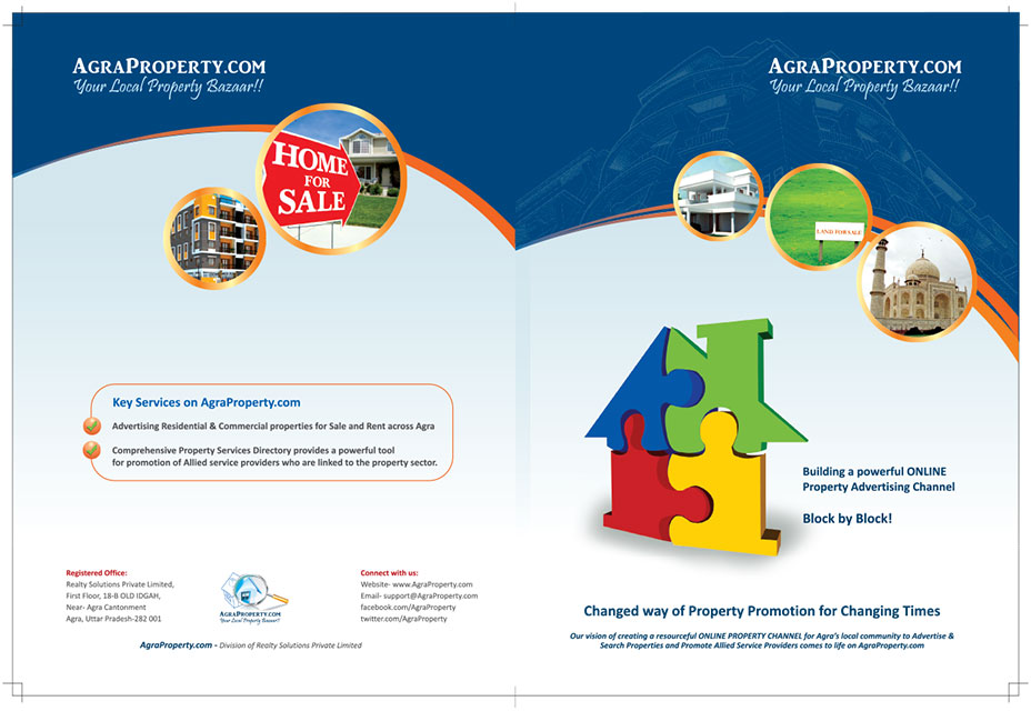 Realty or Property industry brochure - KID brochure design India